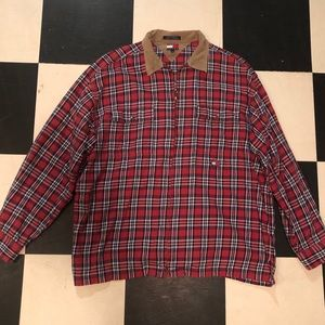 Tommy Hilfiger 90's zip up flannel vintage